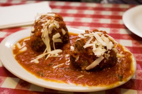 Grandma Grace's meatballs @ Lombardi's Pizza // 32 Spring St New York, NY, 10012